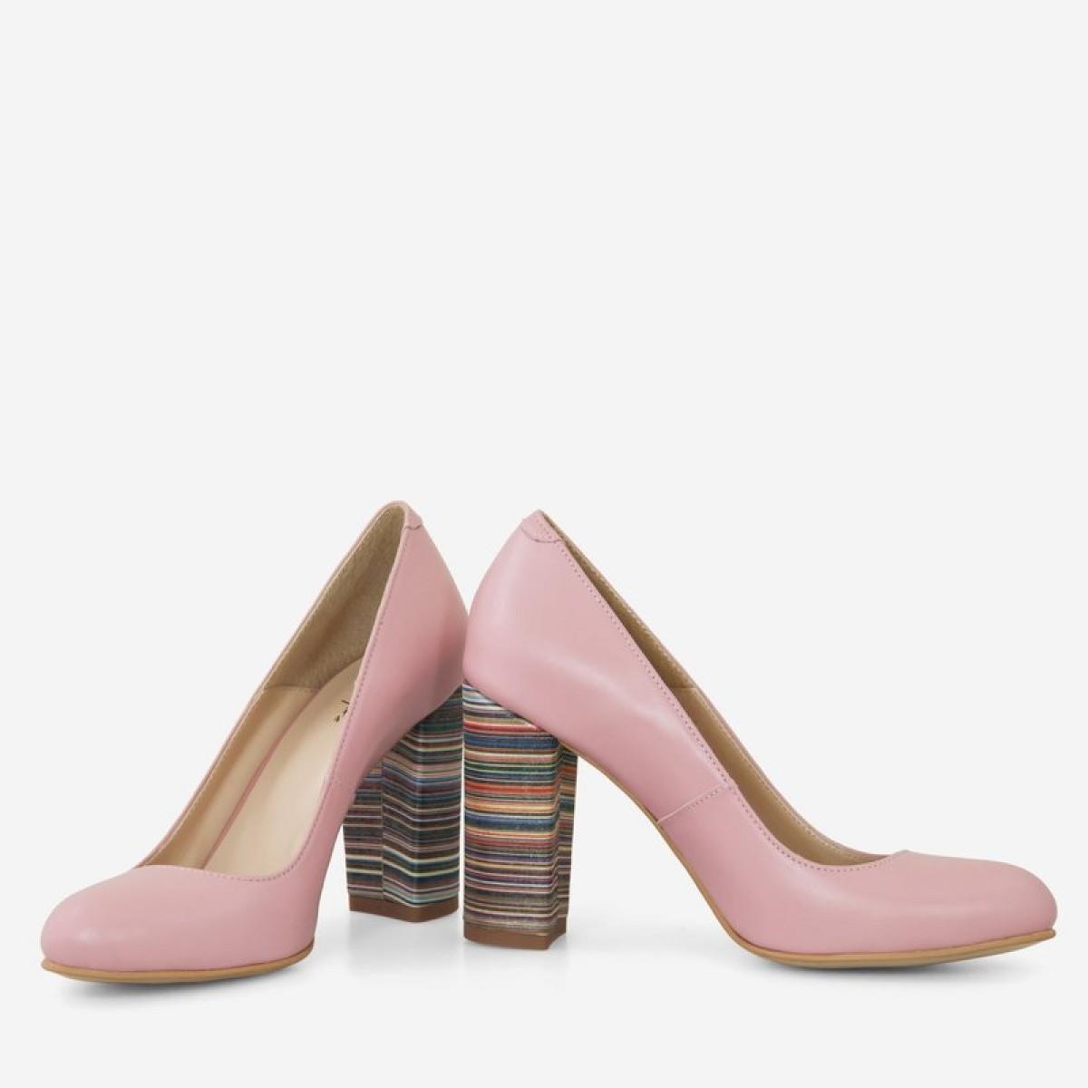 Pantofi Dama Piele Roz Prafuit Fabiola