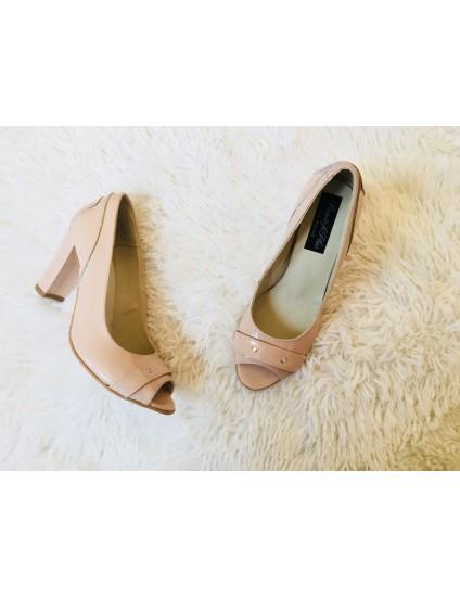 Pantofi office piele Lac Nude V17 - pe stoc