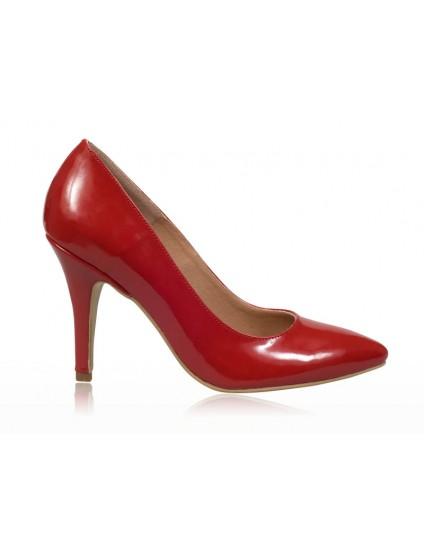 Pantofi stiletto piele rosu N7 - orice culoare