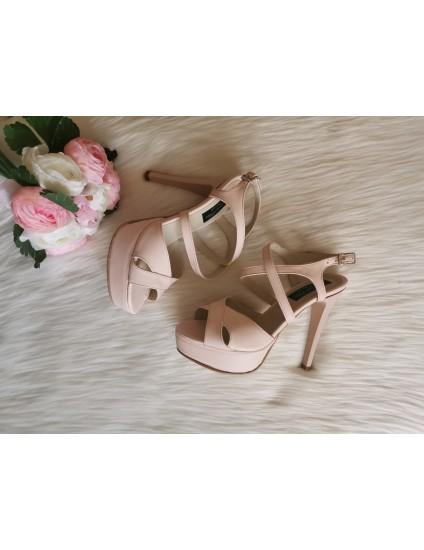 Sandale Modern 1 roze, Piele Naturala - pe stoc