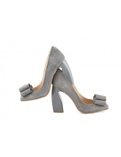 Pantofi piele Chic Madame Crook Gri - disponibili pe orice culoare