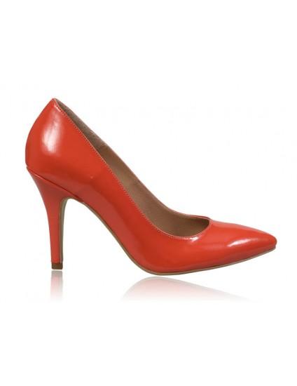 Pantofi stiletto piele corai N7 - orice  culoare