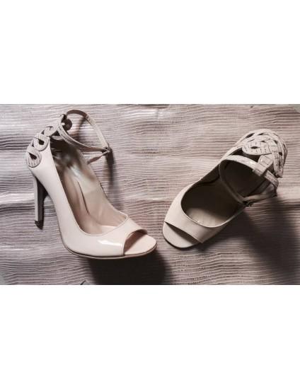 Pantofi Dama Piele Bej Sarah C31 - pe stoc