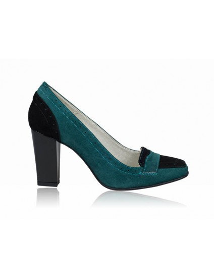 Pantofi dama piele office Verde P4 - orice  culoare