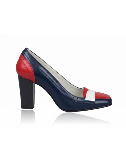 Pantofi dama piele office Bleumarin P4 - orice  culoare