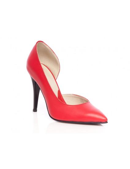 Pantofi piele naturala stiletto decupat P2 - orice  culoare