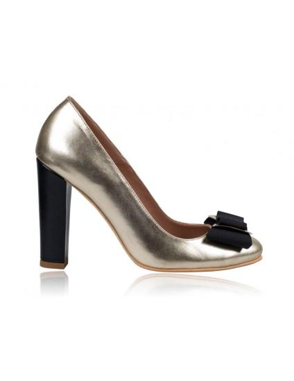 Pantofi dama piele Auriu N1  - pe stoc