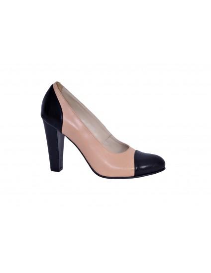 Pantofi Classy Combi piele naturala - orice culoare