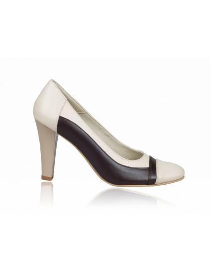 Pantofi dama piele P7 cu funda - orice culoare