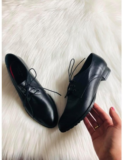Pantofi dama Oxford Negru  N91 - pe  stoc