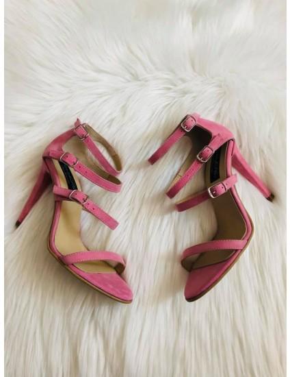 Sandale dama piele elegante F3 ROZ  - pe stoc