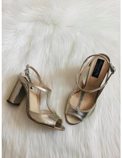 Sandale Dama Piele Luna C5 Auriu- pe stoc