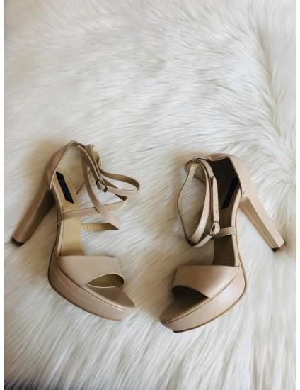 Sandale piele naturala Clara 2 nude  -  pe stoc