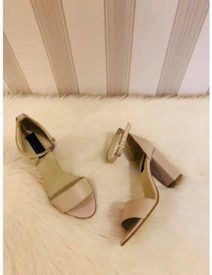 Sandale din Piele Naturala Stylish Nude - pe stoc
