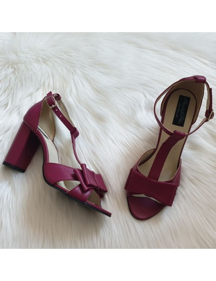 Sandale Piele Mov  Derin T8  - pe stoc