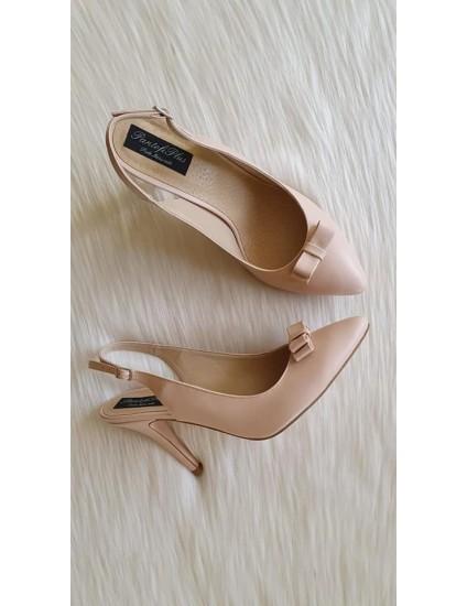 Pantofi Stiletto Decupat BOX Nude N42 - PE STOC