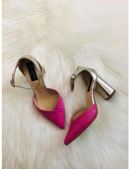 Pantofi Piele Auriu/roz Relax C44 - pe stoc
