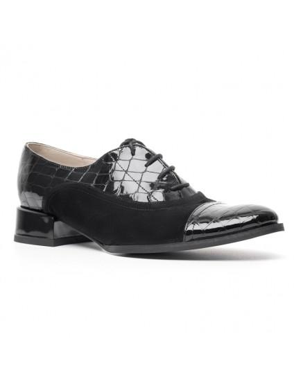 Pantofi Oxford 4 piele croco negru - orice culoare
