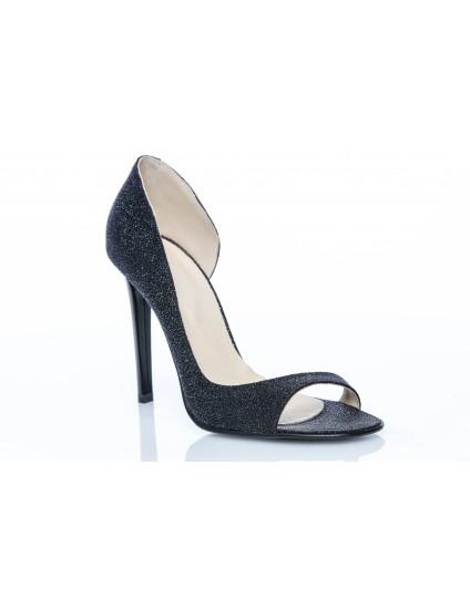 Pantofi Piele Lara Decupat Glitter - orice culoare