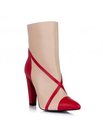 Botine Dama Piele Sweet Red L1 - orice culoare
