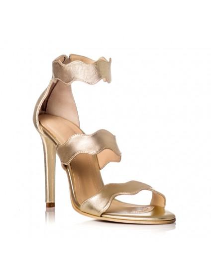 Sandale Dama Piele Auriu Onduleu F26 - orice culoare