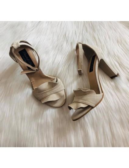 Sandale Piele Nude  Anais Toc Gros C16  -pe stoc