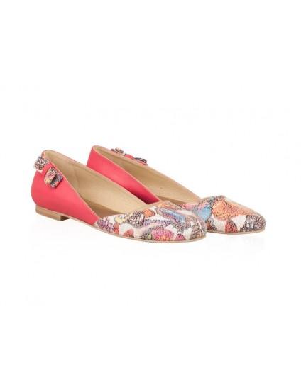 Balerini piele roz Butterfly N12 - orice culoare