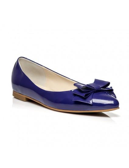 Balerini piele lacuita Bleumarin C1 - orice culoare