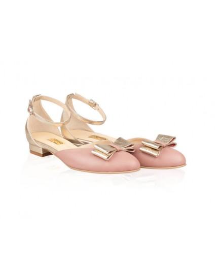 Balerini piele roze-auriu Kiss N20 -pe stoc