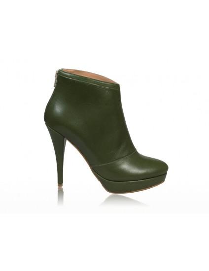 Botine dama piele Verde  N 12 -  pe stoc
