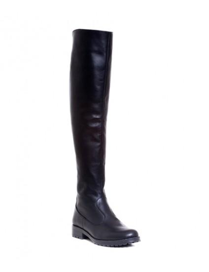 Cizme Casual 2 peste genunchi piele naturala-pe stoc
