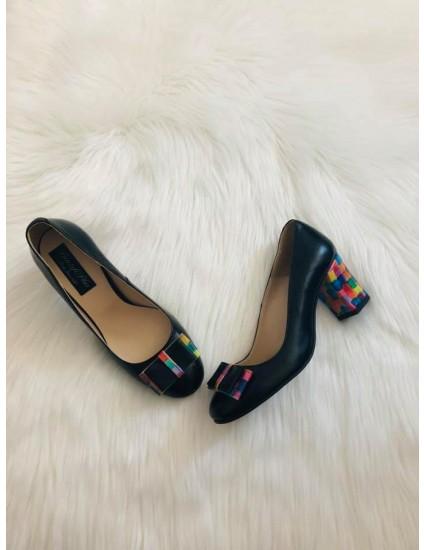 Pantofi Piele Negru Office color D20 - pe stoc