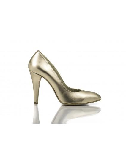 Pantofi Stiletto Auriu piele naturala Casual  -orice culoare