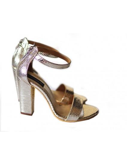 Sandale din Piele Naturala Stylish Argintiu