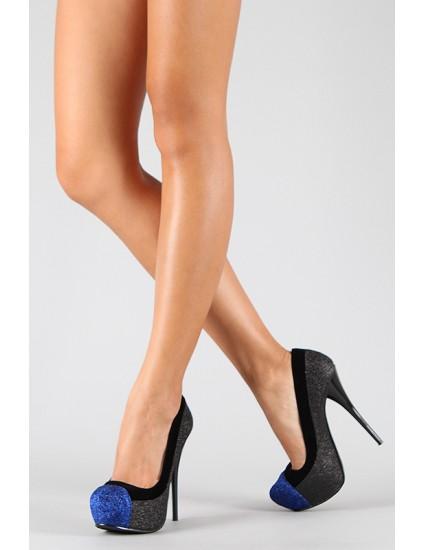 Pantofi Glitter Shoes, negri