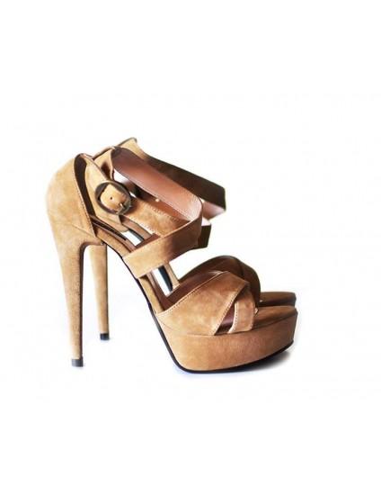 Sandale  Dama Piele Intoarsa  - disponibile pe orice culoare