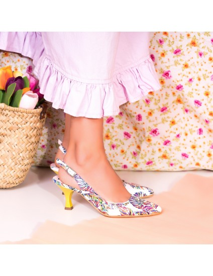 Pantofi Comod Piele Floral Decupat C61- Orice Culoare