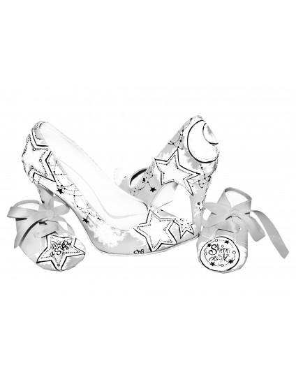 Pantofi piele naturala alb set mama - fiica M5 - orice culoare