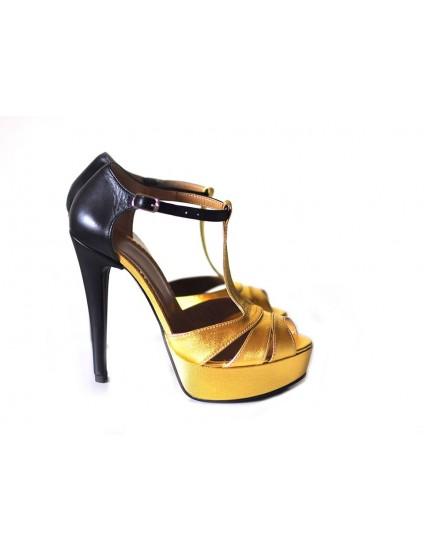 Sandale  Dama Piele Naturala Combi - disponibile pe orice culoare