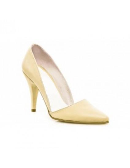 Pantofi Dama Stiletto M1 Nude - pe stoc