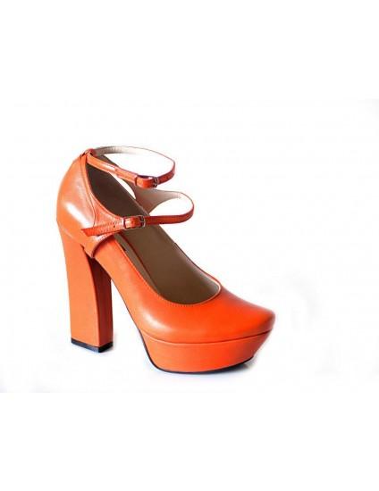 Pantofi Piele Orange model Bretele