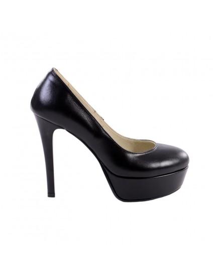 Pantofi LINDI piele naturala,orice culoare-negri