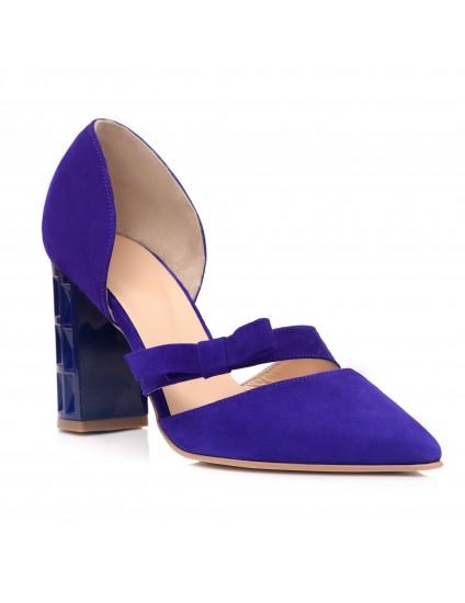 Pantofi Piele Albastru Elecetric Erika C50 - Orice Culoare