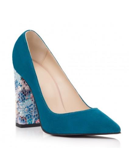 Pantofi Dama Piele Albastru Marin S3 - Orice Culoare - Orice Culoare