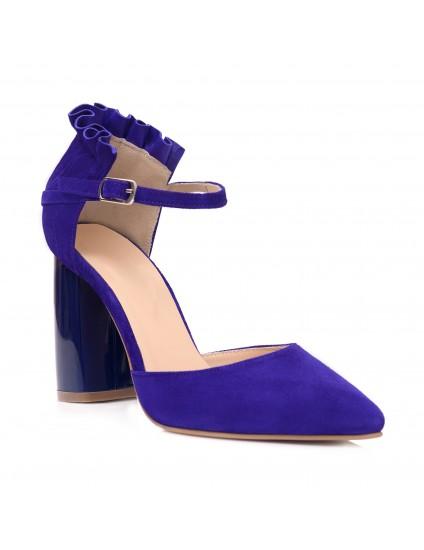 Pantofi Piele Intoarsa Albastru Royal Elissa C55 - orice culoare
