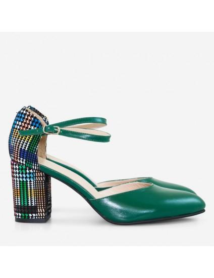 Pantofi Piele Verde Comod Style D59  - orice culoare