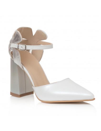 Pantofi Piele Ivory/Argintiu Lady C40 - orice culoare