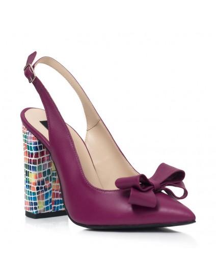 Pantofi Dama Piele Mov/Multicolor Arya S22- orice culoare
