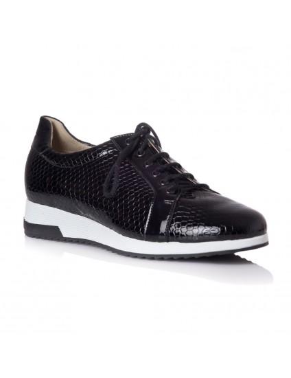 Pantofi Sport Piele Lacuita Negru T24 - orice culoare
