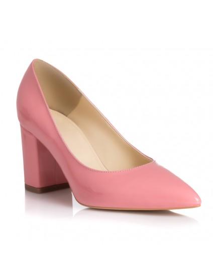 Pantofi Piele Roz Pal Roz Pudra